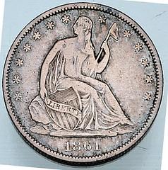 Confederate Half Dollar obverse