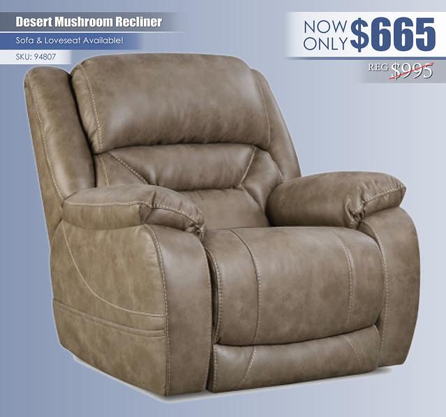 Desert Mushroom Recliner_94807
