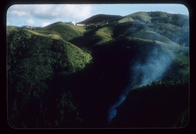 AZ57--Trash fire burning in San Cristobal canyon, Barranquitas