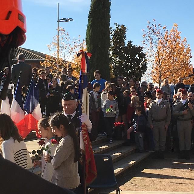 Cérémonie de commémoration du 11 novembre, Tournefeuille, 2018
