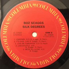 BOZ SCAGGS:SILK DEGREES(LABEL SIDE-B)