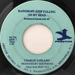 CHARLIE EARLAND:RAINDROPS KEEP FALLING ON MY HEAD(LABEL SIDE-A)