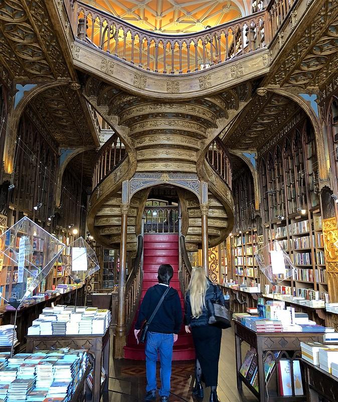 Porto, Livraria Lello, Harry Potter, Kirjakauppa, Portaikko