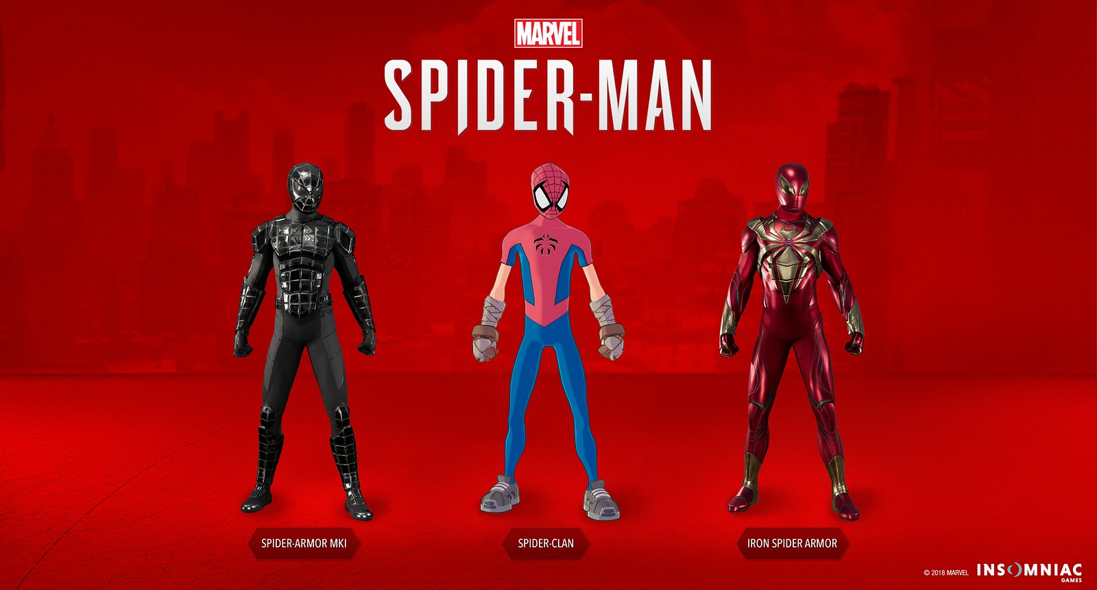 The three new Spider-Man suits