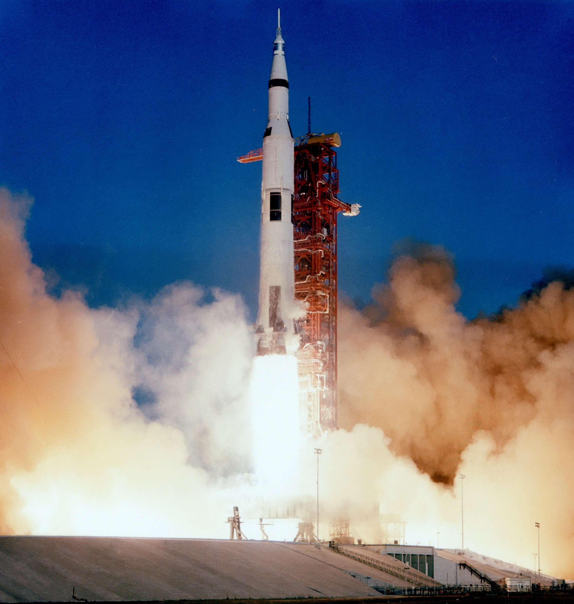 Apollo 8 liftoff on December 21, 1968.