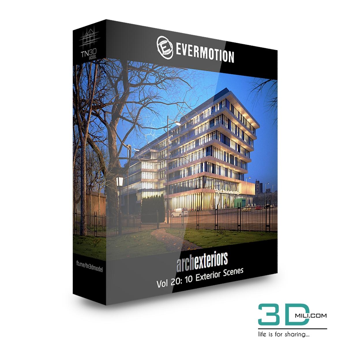 Evermotion Archexteriors Vol 20: 10 Exterior Scenes - 3D