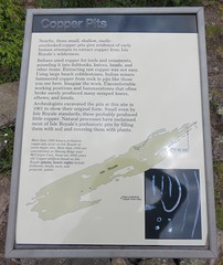 Copper Pits Marker (Isle Royale National Park, Michigan)