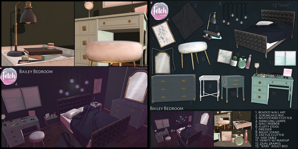 [Fetch] Bailey Bedroom Gacha @ The Arcade!