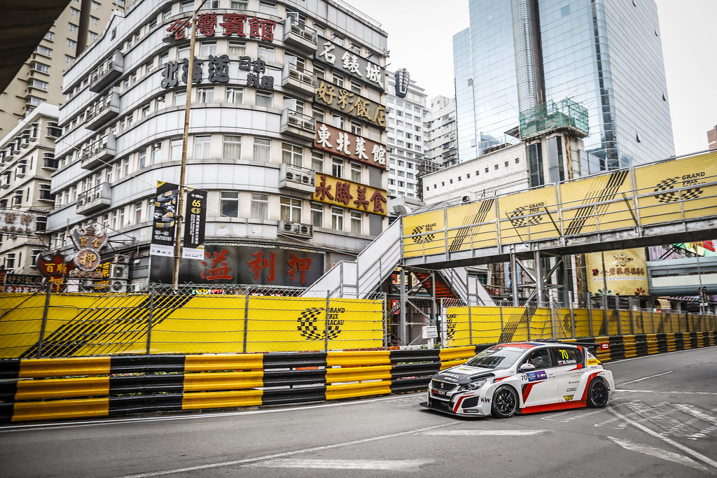 70 HOMOLA Mato, (svk), Peugeot 308 TCR team DG Sport Competition, action during the 2018 FIA WTCR World Touring Car cup of Macau, Circuito da Guia, from november  15 to 18 - Photo Francois Flamand / DPPI