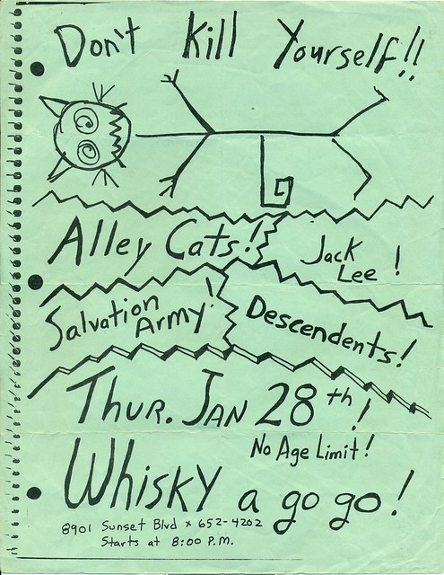 Alley Cats, Jack Lee, Salvation Army, Descendents at The Whisky A Go Go, Hollywood, CA 1982