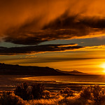 12. Detsember 2018 - 16:51 - Sunset on the Bay at Antelope Island