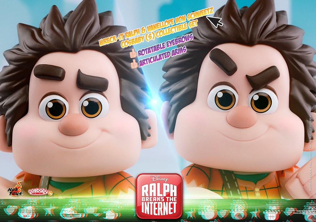 Hot Toys – COSB539 –《無敵破壞王2:網路大暴走》破壞王雷夫 & 雲妮露·凡史威茲 Wreck-It Ralph & Vanellope von Schweetz Cosbaby (S) Set