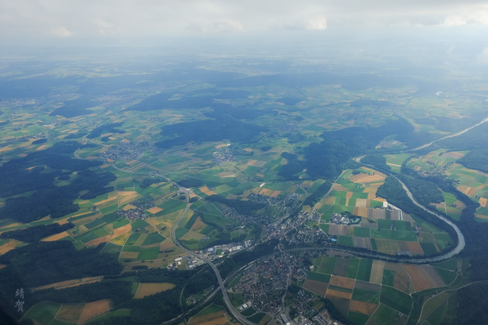 Flying past Kleinandelfingen