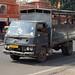 2018-10-26 0710 Indien, Jaipur, Hawa Mahal Road, Lastwagen