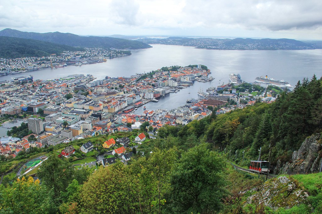 Views from Mount Fløyen, Bergen