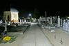 Nächtliche Beleuchtung auf dem Neugässer Friedhof