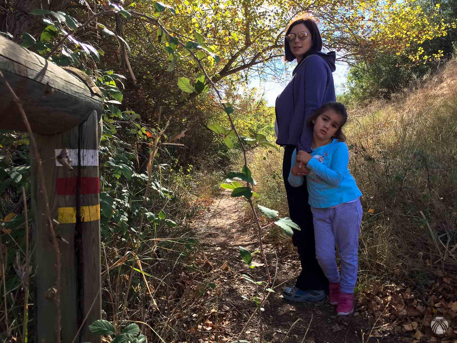 En el regreso por dentro del bosque coincidimos con el GR del Segura