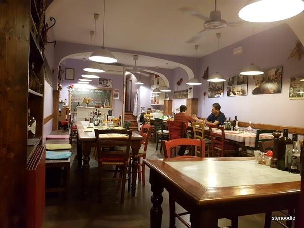Trattoria Diladdarno dining room