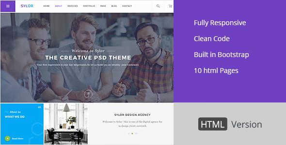 Sylor – Agency/Portfolio HTML Template