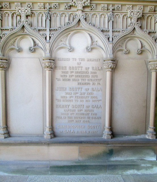 Melrose Abbey Grave Marker