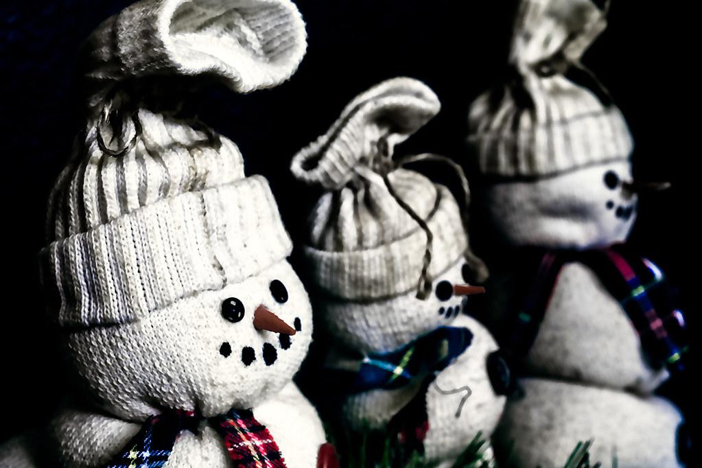 Vintage snowman dolls