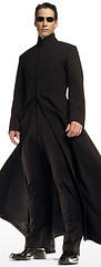 Keanu Reeves The Matrix Neo Black Leather Trench Coat 4
