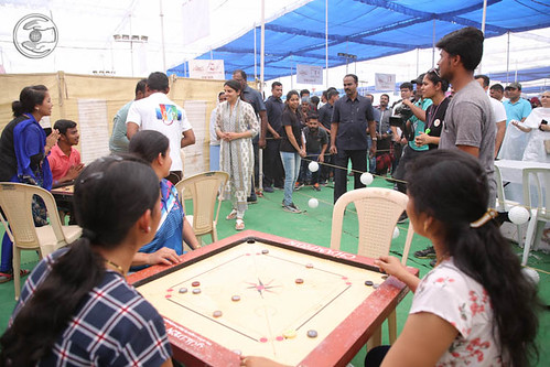 Blessings by Satguru Mata Ji at the pavilion of Carrom-board