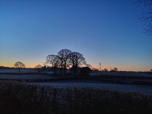 sky frost silhouette sunrise