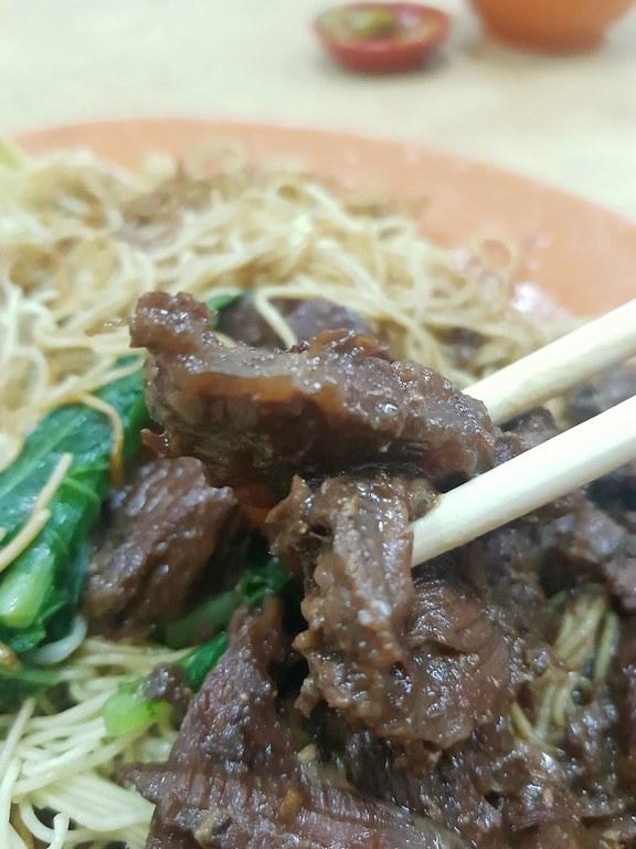 牛肉面 Beef Noodle rm$8 @ 成记云吞面 Seng Kee Wan Ton Mee at 丽丰茶餐室 Kedai Kopi Lai Foong in KL Jalan Tun H.S.Lee