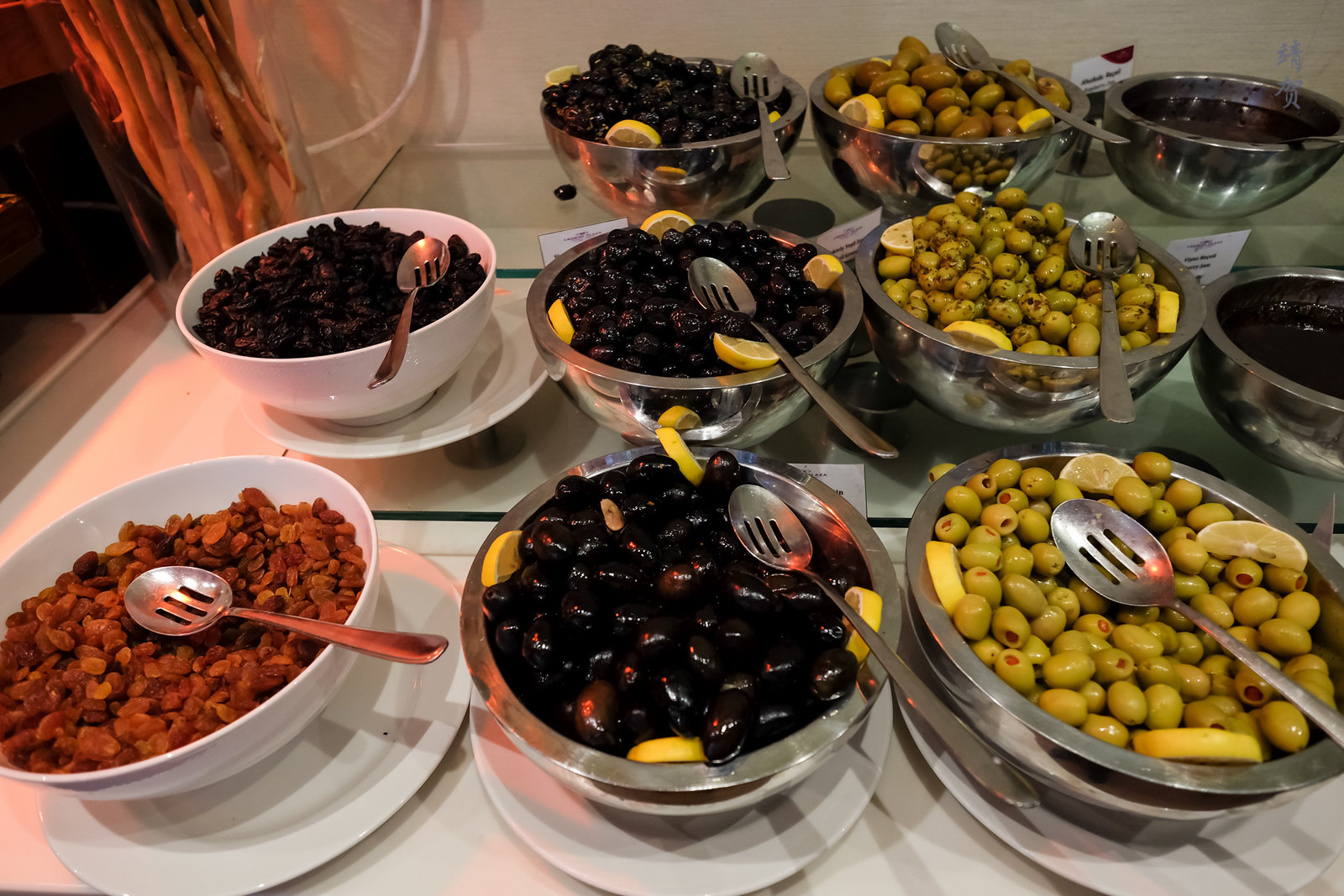 Olives and dried fruits