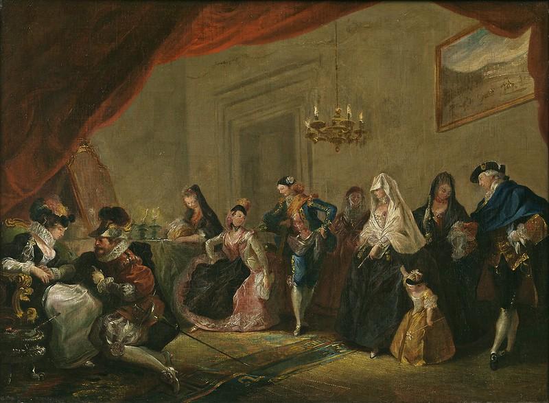 Luis Paret y Alcazar - Ensayo de una comedia (1772-73)