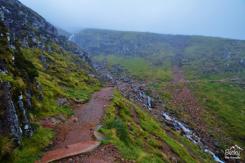 Ben Nevis walk on a rainy day