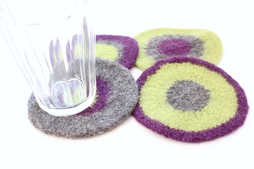 Felted Coasters - Violette
