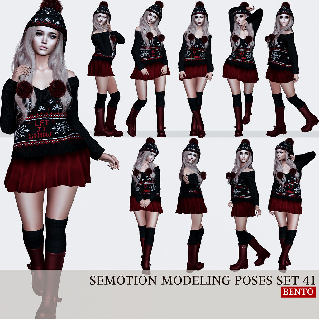 SEmotion Female Bento Modeling poses Set 41