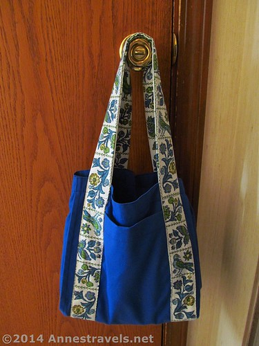 Water Bottle Tote Bag stitched by me