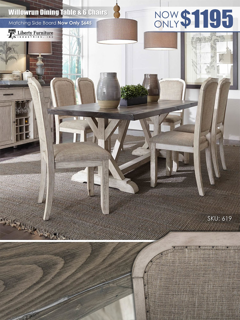 Willowrun Table & 6 Chairs by Liberty Furniture_619