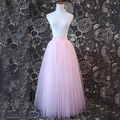 US $11.6 80% OFF|Full Length Tutu Tulle Skirt with Stretch Waistband Bridesmaid Princess Skirt Adult Petticoat 4 Layer 100cm Floor Length Skirts-in Skirts from Women's Clothing on Aliexpress.com | Alibaba Group
