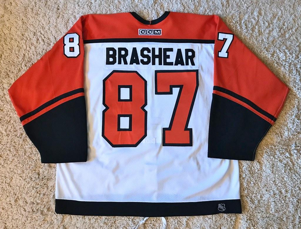 Game Worn Donald Brashear, TC/PS (Back)
