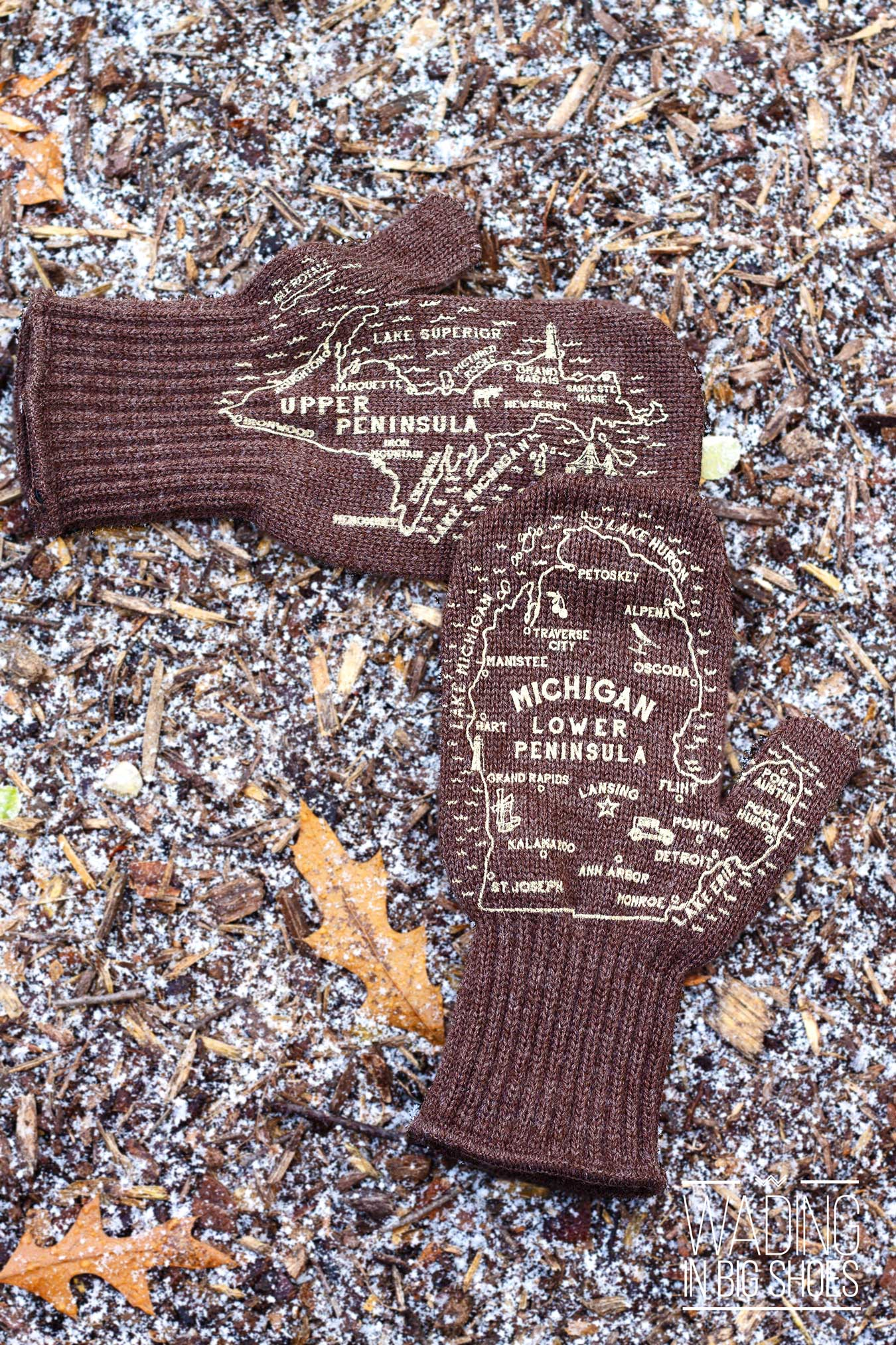 Getting Cozy At Home With Michigan Mittens | via Wading in Big Shoes