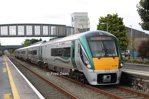 Irish Rail ICR Set 36 in Athenry.