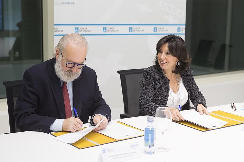Sinatura do convenio de colaboración para a colaboración da Xunta na Mobile Week Coruña