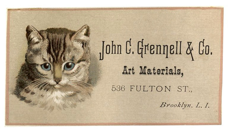 006-Scrapbook of trade cards 1877-1894- Brooklin Museum