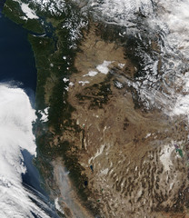 California and the Pacific North West with Camp Fire Smoke