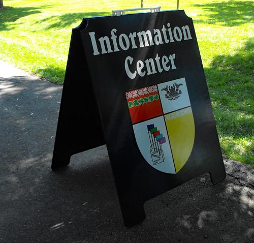 Information Center Sign.