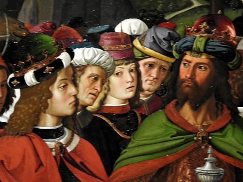 """Milano - Palazzo Marino - """"Adorazione dei Magi"""" del Perugino (Particolare)"""