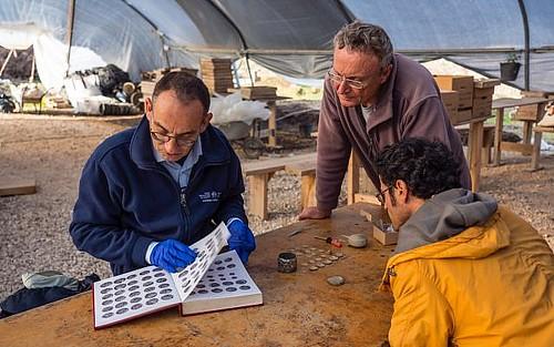 Caesarea gold coin find team