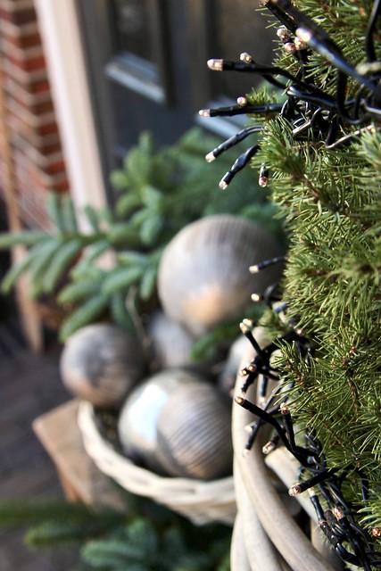 Kerst voordeur tafeltje