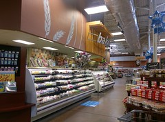 Looking down the bakery and deli 'grand aisle'