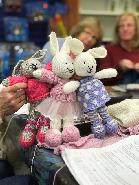 Carola's bunny meets Carol's bunnies!! I love how much personality they each have!