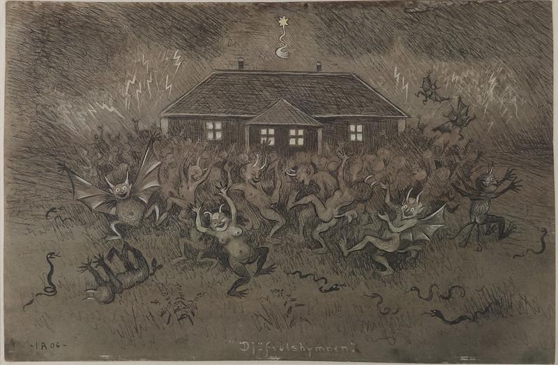 Ivar Arosenius - Devil Hymn, 1906
